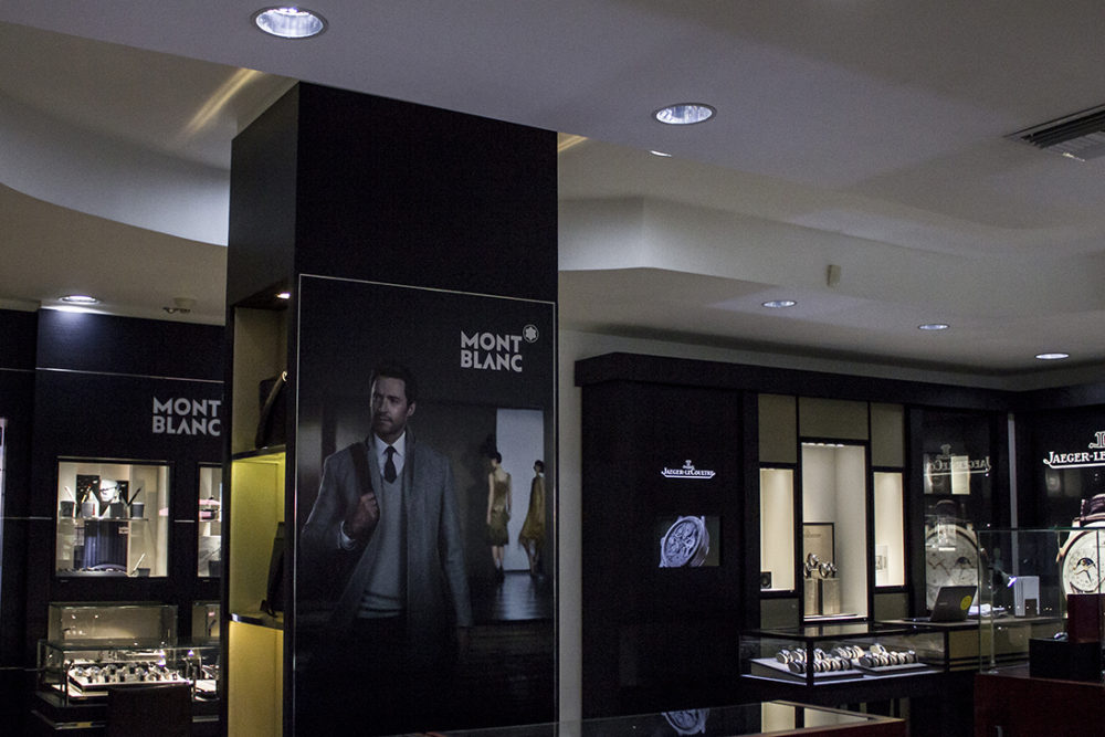 Montblanc showcase at Jewels in Paradise