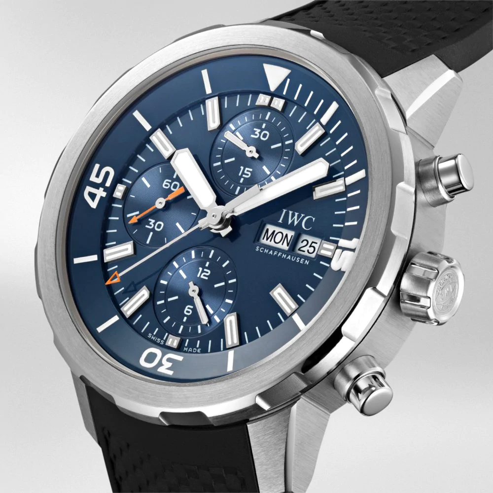 "IW376805 - IWC Aquatimer Chronograph Edition ""Expedition Jacques-Yves Cousteau"" Blue Dial Stainless Steel"
