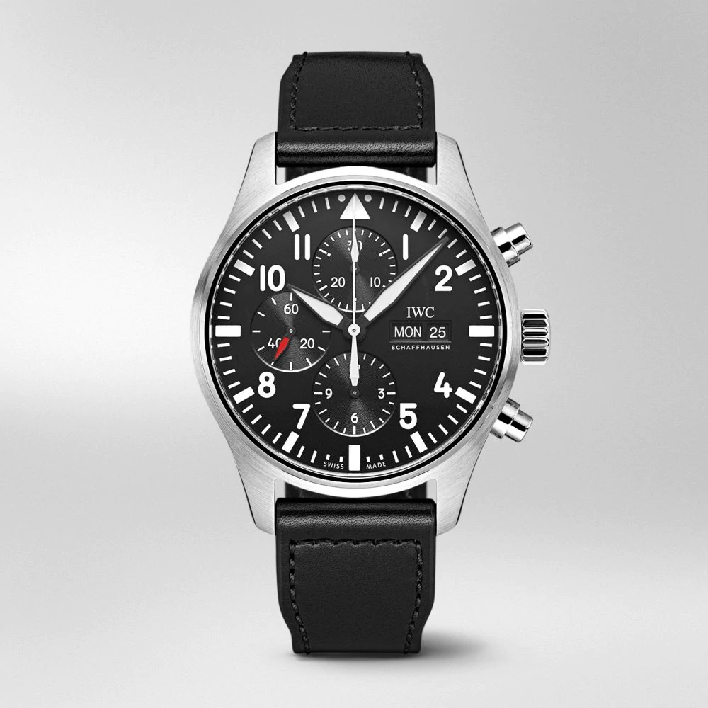 IW377709 PILOT'S WATCH CHRONOGRAPH Black Dial Stainless Steel