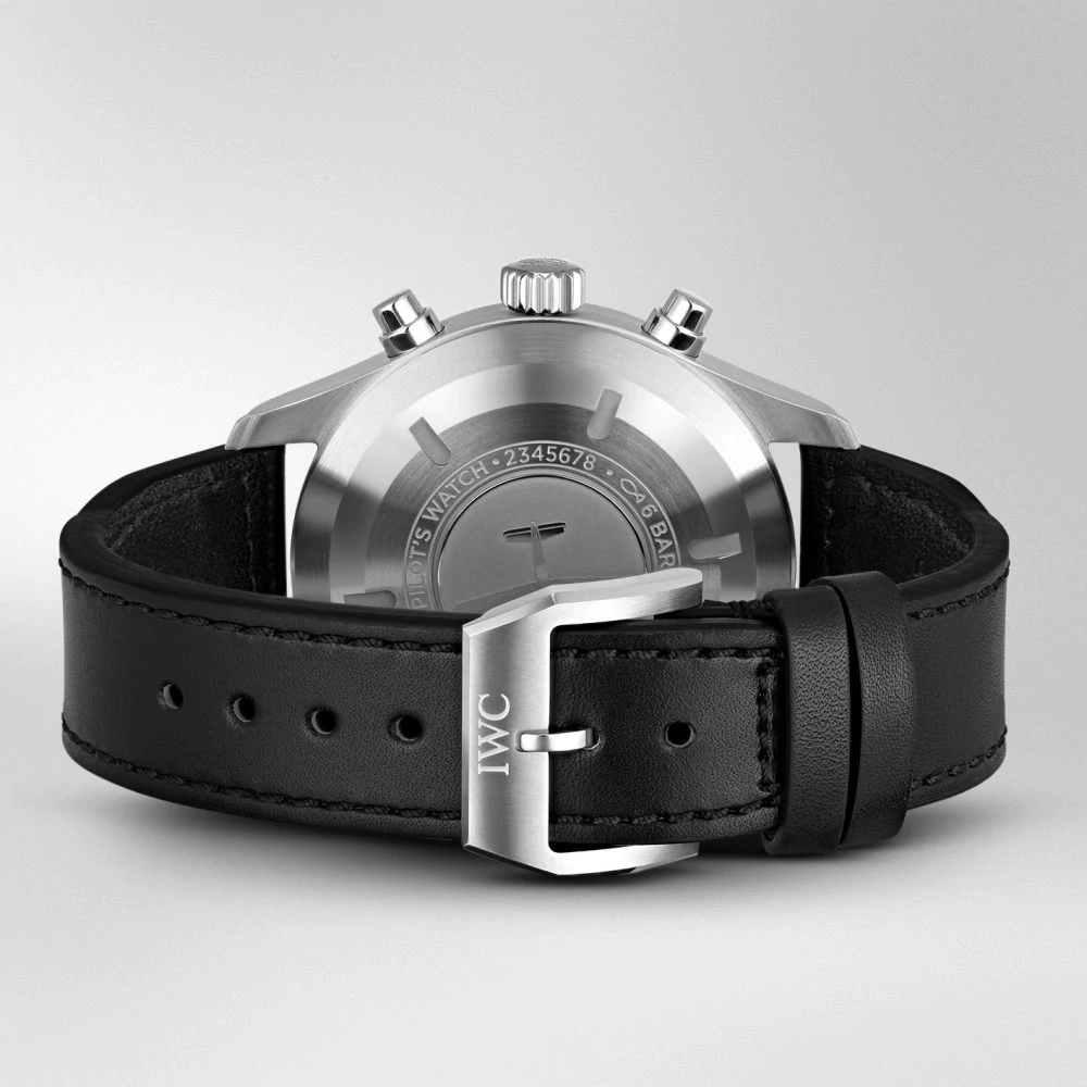 IW377709 PILOT'S WATCH CHRONOGRAPH Black Leather Strap