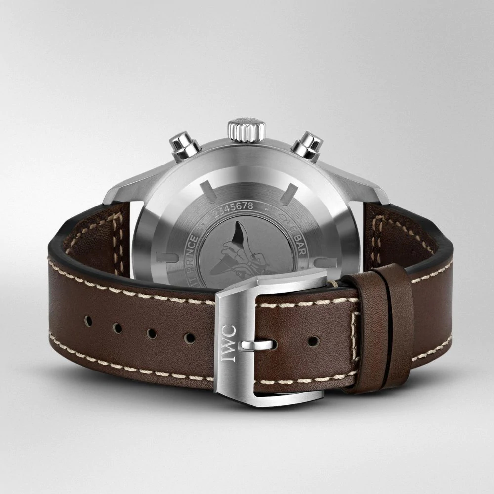"""IW377714 PILOT'S WATCH CHRONOGRAPH EDITION """"LE PETIT PRINCE"""" Brown leather Strap"""