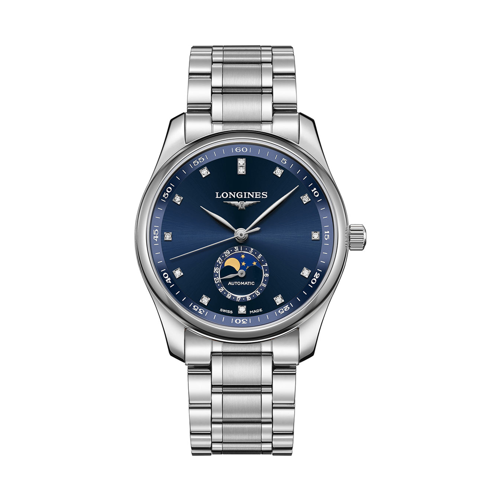 THE LONGINES MASTER 40MM COLLECTION BLUE DIAL MOONPHASE AUTOMATIC