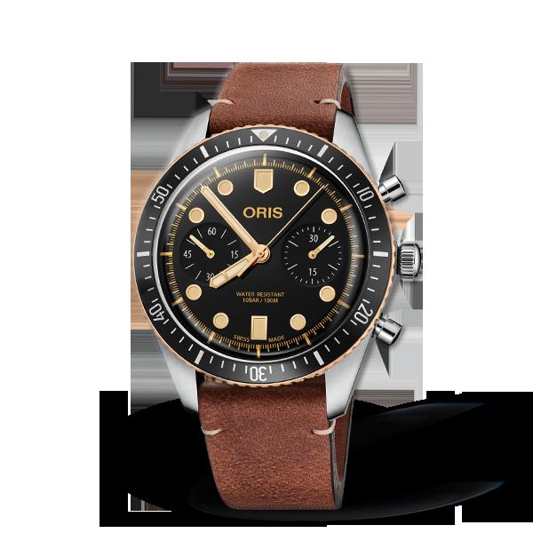01 771 7744 4354-07 5 21 45 — Oris Divers Sixty-Five Chronograph