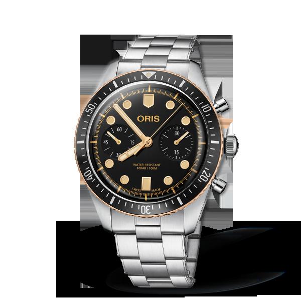 01 771 7744 4354-07 8 21 18 — Oris Divers Sixty-Five Chronograph