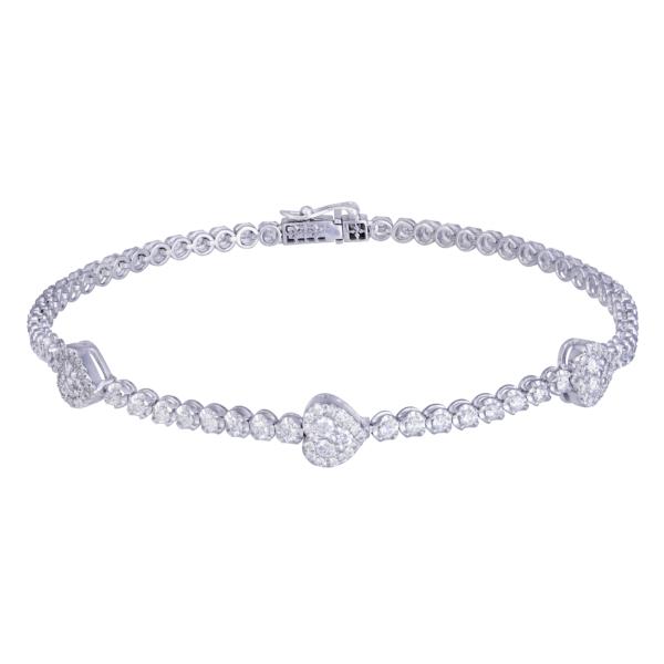 18kt white gold diamond bangle