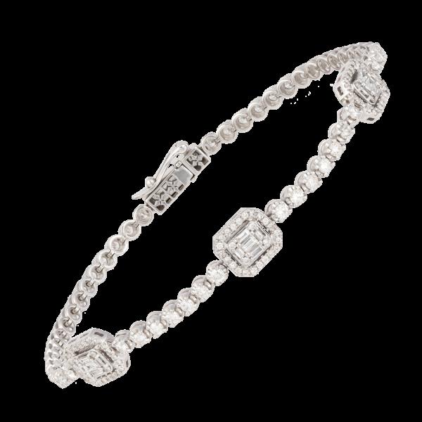 18kt white gold diamond bange