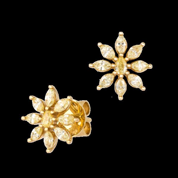 18kt yellow gold diamond earring