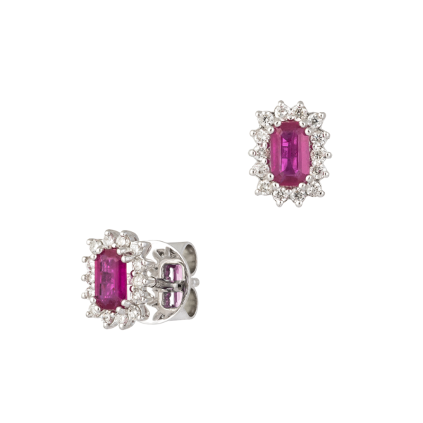 18kt white gold with diamond & Ruby