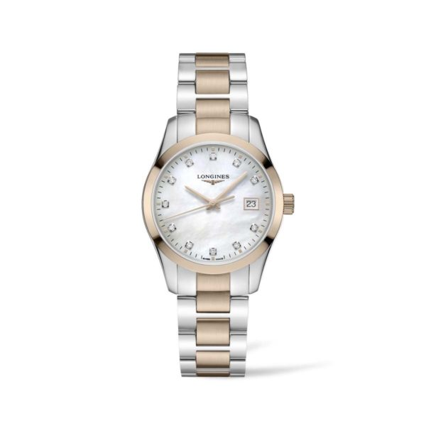 L23863877 — Conquest Classic 34mm Stainless Steel with diamonds