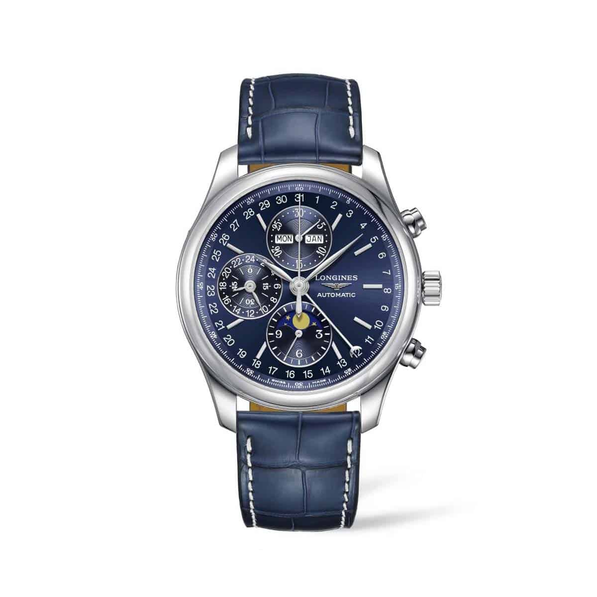 L27734920 — The Longines Master Collection 42mm Blue Dial Chronograph