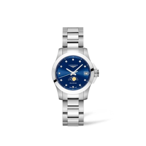 L33804976 — Conquest 29mm Blue Dial Stainless Steel