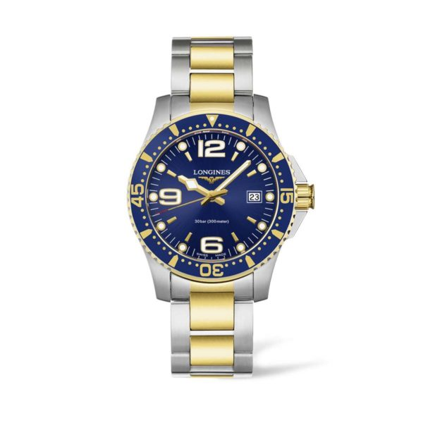 L37403967 — HydroConquest 41mm Blue Dial Stainless Steel/PVD Diving Watch