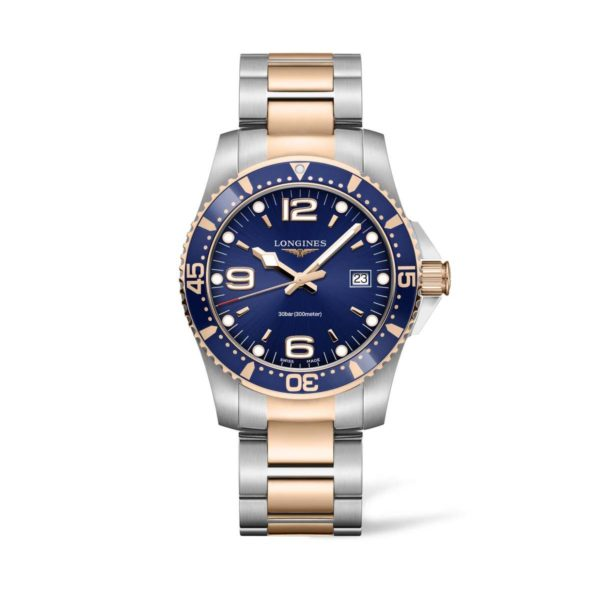 L37403987 — HydroConquest 41mm Blue Dial Stainless Steel/PVD Diving Watch