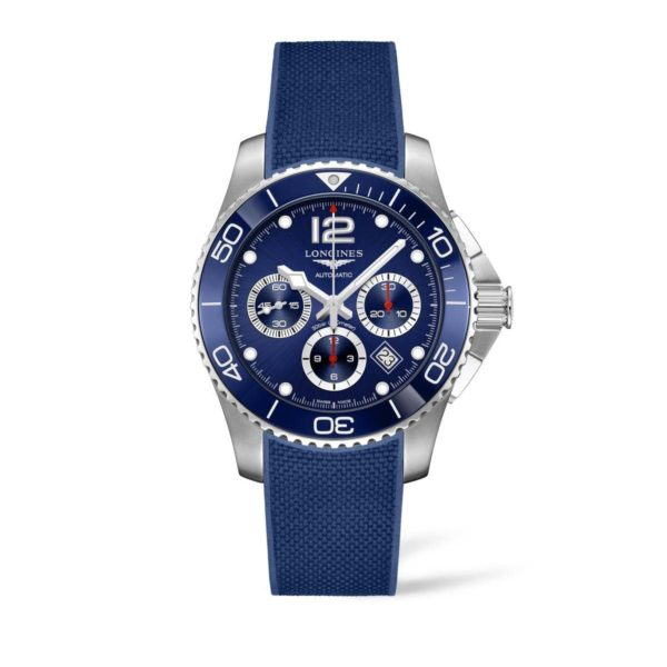 L38834969 — HydroConquest 43mm Blue Dial Stainless Steel/Ceramic Chronograph