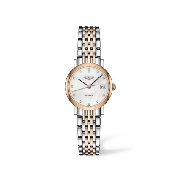 L43095877 — The Longines Elegant Collection 25mm Stainless Steel/Gold Cap 200 Automatic