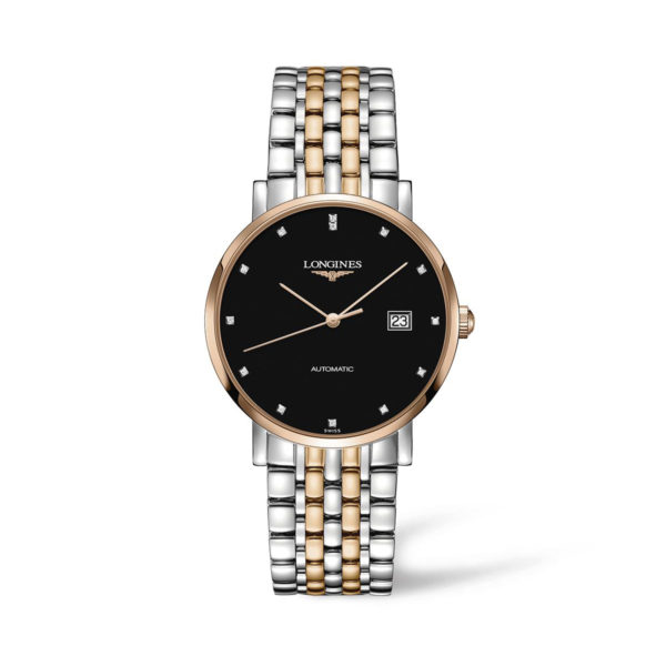 L49105577 — The Longines Elegant Collection 39mm Stainless Steel/Gold Cap 200 Automatic