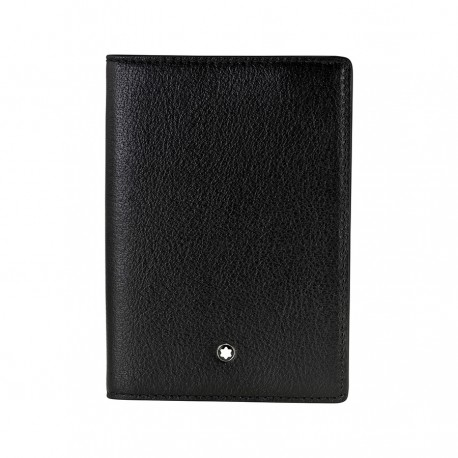 111269 — Montblanc Meisterstuck Tuscany Black Leather Passport Holder