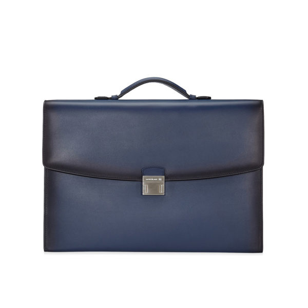 114129 — Montblanc Mst Sel Sfumato Sgusset Briefcase Navy