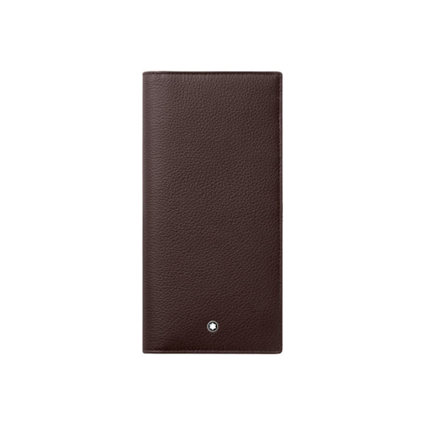 114475 — Montblanc Mst Soft Grain Long Wallet14Cc Zip Brown