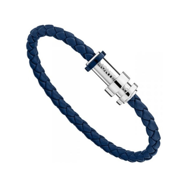 11654563 — Montblanc Unicef Bracelet, Woven Leather Steel, 63