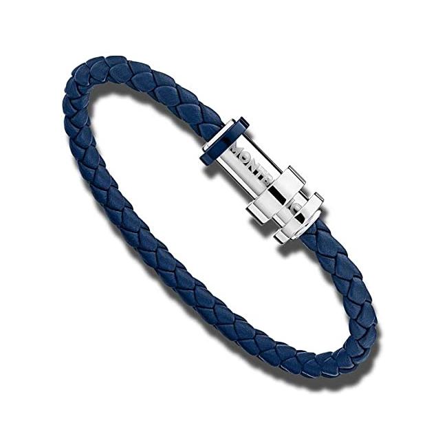 11654568 — Montblanc Unicef Bracelet, Woven Leather Steel, 68