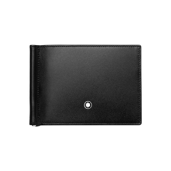 118295 — Montblanc Mst Wallet 6Cc W Moncl Black-Light Blue