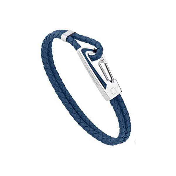 11855468 — Montblanc Bracelet, Carabiner, Steel, Blue-Blu, 68