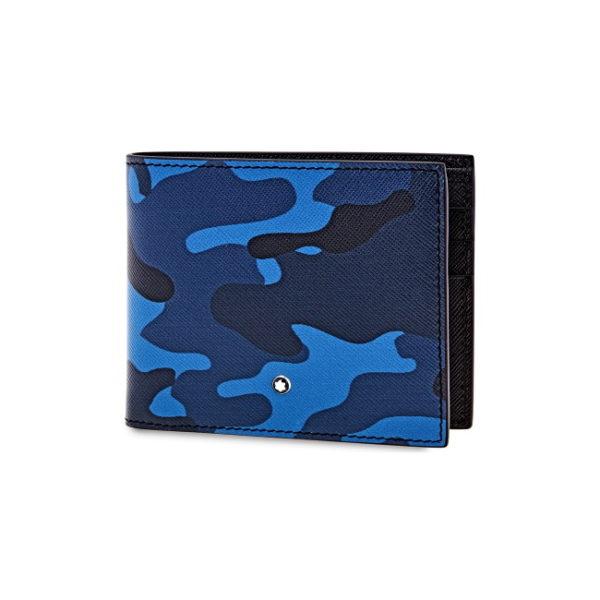 118674 — Montblanc Mb Sartorial Wallet 6Cc Camou Blue